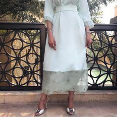 "531 Likes, 6 Comments - WADUBAI (@wa.dubai) on Instagram: ""Dress to impress ✨ The sweetest @hamdaqayed in our pistachio crystal embellished dress …"""