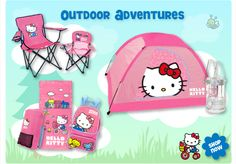 hello kitty camping gear. My girls would luv this!!