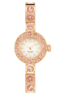 sparkly pink and gold Kate Spade watch.