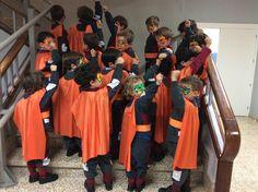 """La clase naranja"" portfolio de Esperanza Vicente para #AulaInnova @cfiesalamanca Dresses, Fashion, Orange, Vestidos, Moda, Fashion Styles, Dress, Fashion Illustrations, Gown"