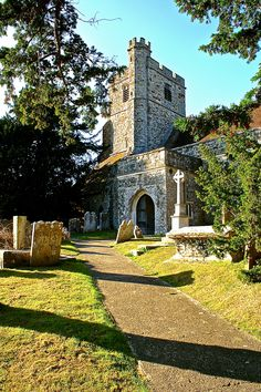 Oude Begraafplaats in Graafschap Kent in Engeland