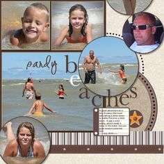 #papercraft #scrapbook #layout Sandy Beaches -pg1 Click here to download ...