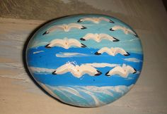 Seagulls at the Ocean  a larger hand painted by rebeccascreations, $5.00