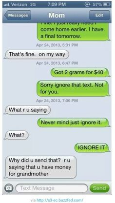 what happens if you text your parents pretending to be a drug dealer