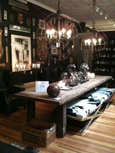 15 dining room tables that will get your guests talking - Masculine and moody dining room