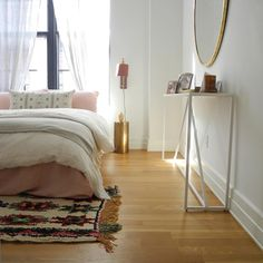 The Serene And Cozy Bedroom Of Our Client Love This Room Strut Console Table By Blu Dot