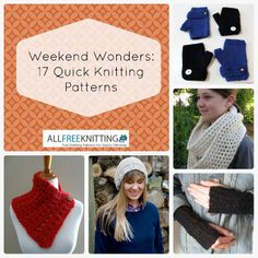 Weekend Wonders: 17 Quick Knitting Patterns from @AllFreeKnitting