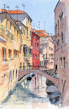 35 Easy Watercolor Landscape Painting Ideas To Try - Cartoon District Aquarelle facile paysa 35 Easy Watercolor Landscape Painting Ideas To Try - Cartoon District Aquarelle facile paysage idées de peinture Watercolor Art Landscape, Watercolor City, Watercolor Architecture, Watercolor Landscape Paintings, Landscape Drawings, City Landscape, Easy Watercolor, Watercolor Sketch, Urban Landscape