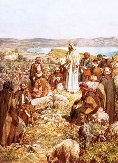 Christ preaching to this disciples and others. The Life of Jesus of Nazareth by…