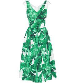 DOLCE & GABBANA Printed cotton dress. #dolcegabbana #cloth #dresses