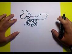 Como dibujar una hormiga paso a paso | How to draw an ant - YouTube