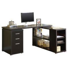 Monarch Specialties Inc. Hollow Core L-Shaped Computer Desk