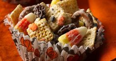 Halloween Chex™ Mix.  Loved this, but the boys just weren't that interested.  Great mix of sweet and salty!