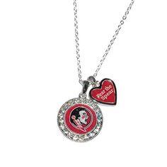 Florida State Seminoles Logo and a Heart Shaped Charm Necklace Featuring Team Slogan Sports Team Accessories http://www.amazon.com/dp/B01BFV3G1C/ref=cm_sw_r_pi_dp_alW1wb1RKHV7G