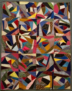 Mrs. J.B. Gunsolly made this 'Crazy' quilt in 1911. It won first prize at the first Calgary Stampede Exhibition in 1912.