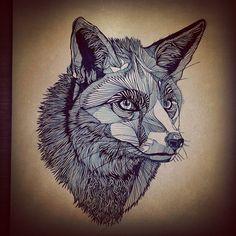 Fox by Bearhug. AWESOME!