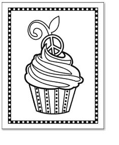 website with lots of adorable free coloring pages that incorporate peace signs