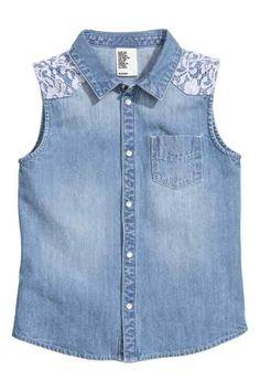 H&M - Sleeveless denim blouse £9.99