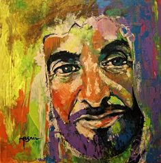 10/22/14 43 portraits in 43 days for UAE National Day 43 2014___ ARTIST: Esmi Pangilina___ #1 Sheikh Zayed bin Sultan Al Nahyan (1918 – 2004)