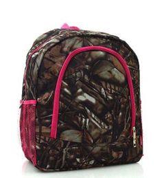 Pink Trim Camouflage Backpack - Handbags, Bling & More!