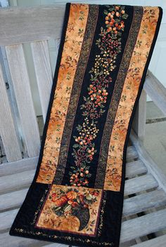 """Fall Quilted Tablerunner 12 1/2"""" x 45"""""""
