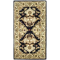 "Safavieh Heritage Collection HG817A Handmade Black and Ivory Wool Area Rug, 2 feet 3 inches by 4 feet (2'3″ x 4′) #handmade Safavieh Heritage Collection HG817A Handmade Black and Ivory Wool Area Rug, 2 feet 3 inches by 4 feet (2'3"" x 4') The Safavieh Heritage Collection brings classical style and old world design, and combines it with modern hand-tufting techniques. These rugs display some of the finest Persian and European exemplary designs, reinterpreted for today's trends. These r.."
