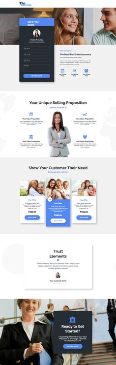 Insurance For Family Landing Page Template Web Design Agency, Web Design Trends, Design Ideas, Wireframe Web, Page Template, Templates, Bmw 320d, Unique Selling Proposition, Best Insurance