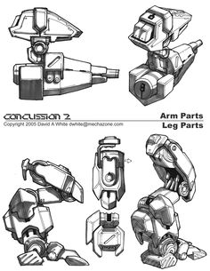 Arm and leg mech joints