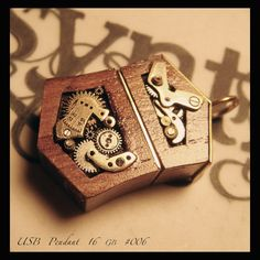Unique Steampunk 16gb USB drive PENDANT 006 by AbsyntheDesign, $40.00