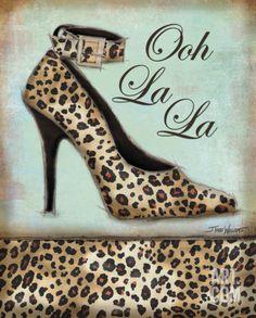 Leopard Shoe Print by Todd Williams at eu.art.com