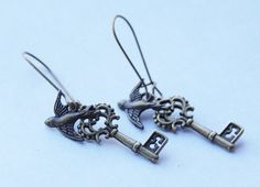 Hey, I found this really awesome Etsy listing at https://www.etsy.com/listing/259102280/victorian-skeleton-key-earrings-bird-key