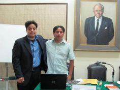 Freddie Armando Romero y Augusto Rubio Acosta de Marea Cultural en el Seminario de Literatura y Redes Sociales del Instituto Raúl Porras Barrenechea (2009).