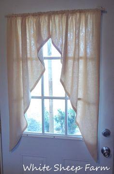 DIY Primitive Prairie Curtains