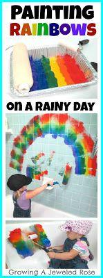 Painting Rainbows- Kids Activity ~ Bath Activities for Kids