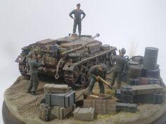 Cyber Hobby Orange Box Stug III Re-Supply Diorama