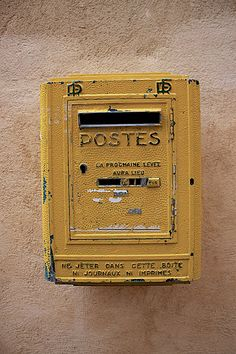 You've got mail! Vintage French post box for wedding cards or guest book messages.