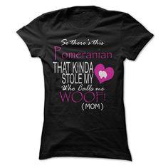 Pomeranian Stole My Heart Funny Shirt
