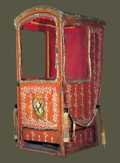 Sedan Chair, orange.