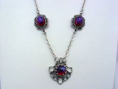 Dragon's Breath Mexican Opal Antique Silver by JJsCollections