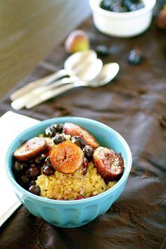 Breakfast Quinoa with Cinnamon-Roasted Fruit