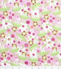 Novelty Quilt Fabric-Happy Frogs