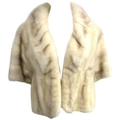 Preowned 1960s Pearl Mink Vintage Wrap Shrug Shawl Stole ($950) ❤ liked on Polyvore featuring accessories, scarves, beige, jackets, mink stole, wrap shawl, wrap scarves, vintage scarves and vintage mink stole
