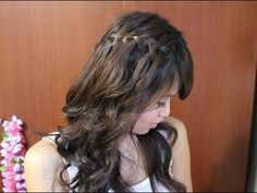 bebexo - How to: Waterfall Braid Hairstyle for Long and Short Hair Tutorial Summer Hairstyles, Pretty Hairstyles, Braided Hairstyles, Flower Hairstyles, Braiding Your Own Hair, Braids For Short Hair, Braid Hair, Haircut Styles For Women, Short Hair Styles