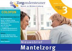 Sinds september 2011 lever ik  artikelen op basis van interviews en onderzoek voor de Mantelzorg Nieuwsbrief van www.dezorgondersteuner.nl.