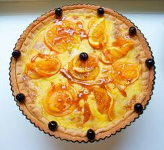tarte integrale al mascarpone e arancia caramellata