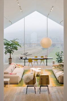 Interior of Herzog & de Meuron's VitraHaus in Germany.