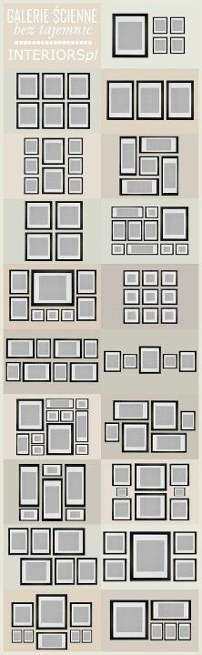 Love this! So many options! Picture wall arrangements