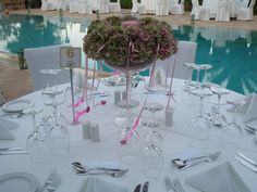 Wedding reception by the pool. Chios, Greece