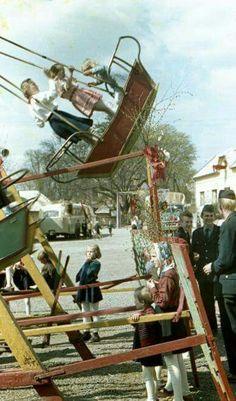 Swings boat Retro 2, My Childhood Memories, Bratislava, Socialism, Romania, Vintage Photos, The Past, Pictures, Ol Days