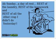 Ah Sunday....